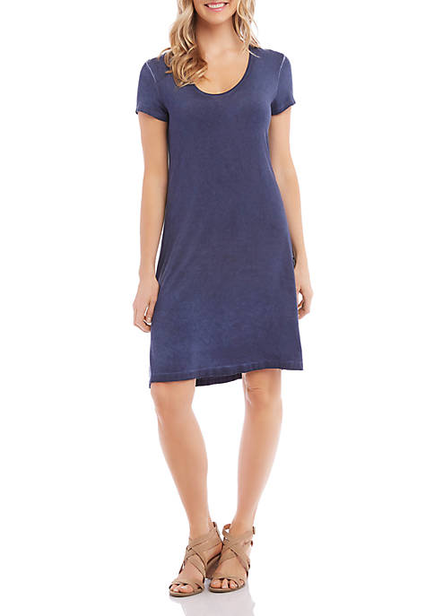 Karen Kane Vintage Wash Olivia T Shirt Dress