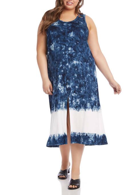 Karen Kane Plus Size Sleeveless Tie Dye Maxi