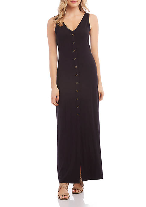 Karen Kane Button Up Alana Maxi Dress