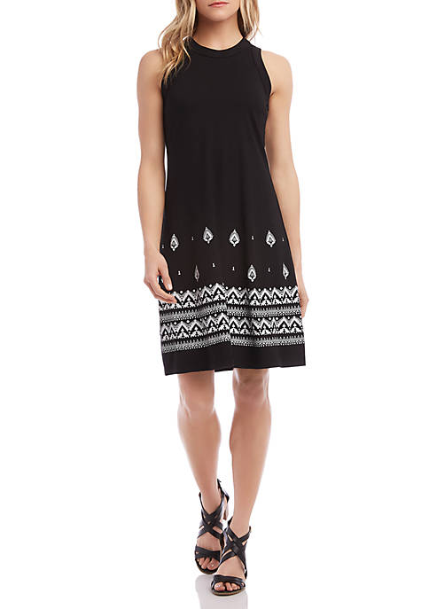 Karen Kane High Neck A Line Dress