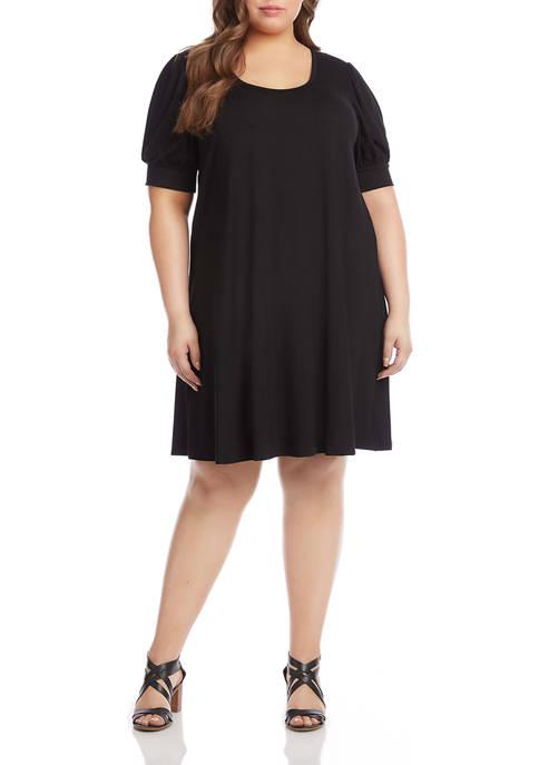 Karen Kane Plus Size Erin A-Line Dress