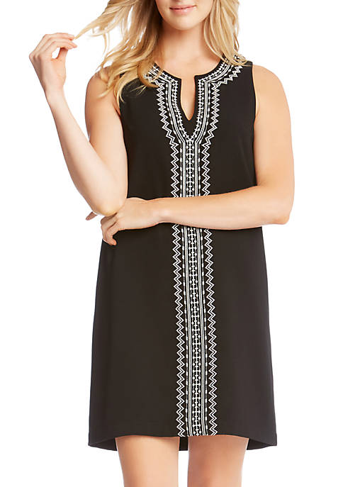 Karen Kane Embroidered Sheath Dress