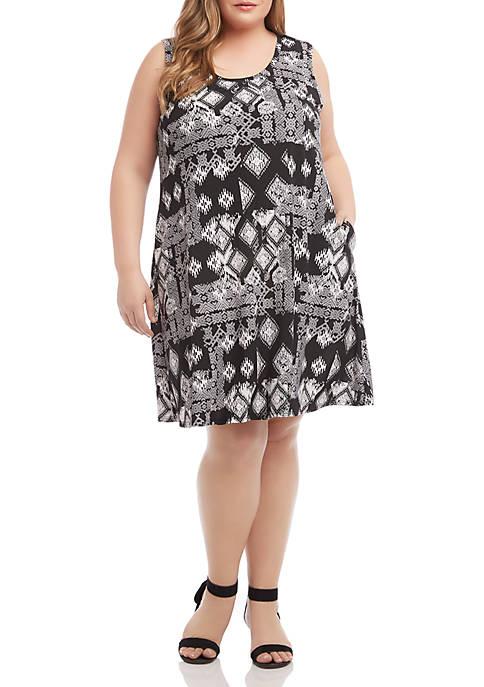 Karen Kane Plus Size Geometric Print Chloe Dress
