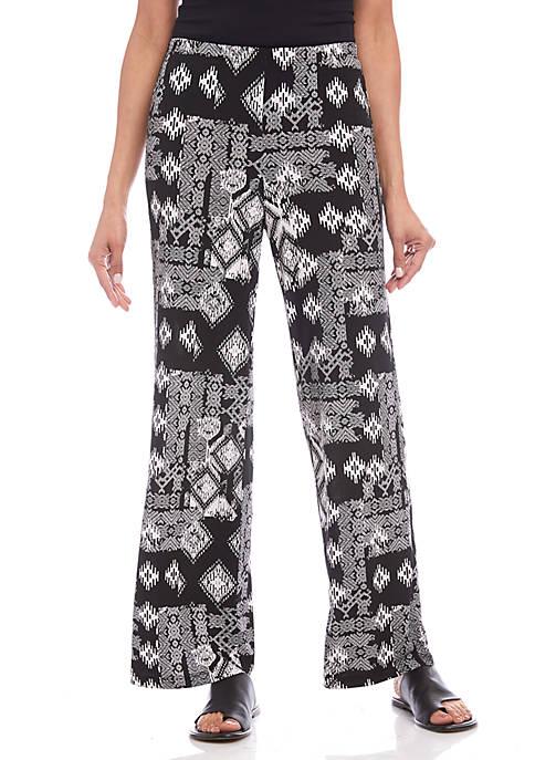 Wide Leg Ikat Pants