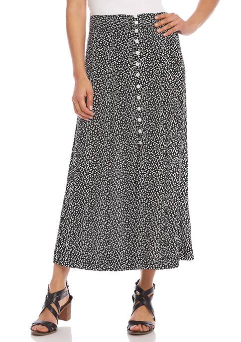 Karen Kane Womens Button Front Midi Skirt