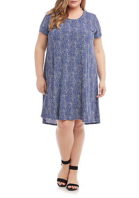 Plus Size Printed Maggie Trapeze Dress