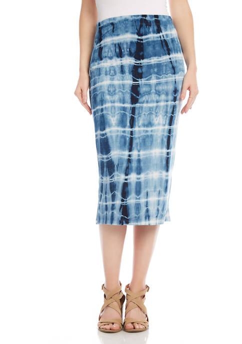 Womens Tie Dye Midi Skirt