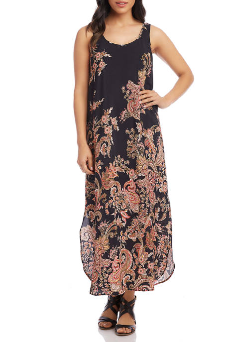 Womens Side Slit Tank Dress