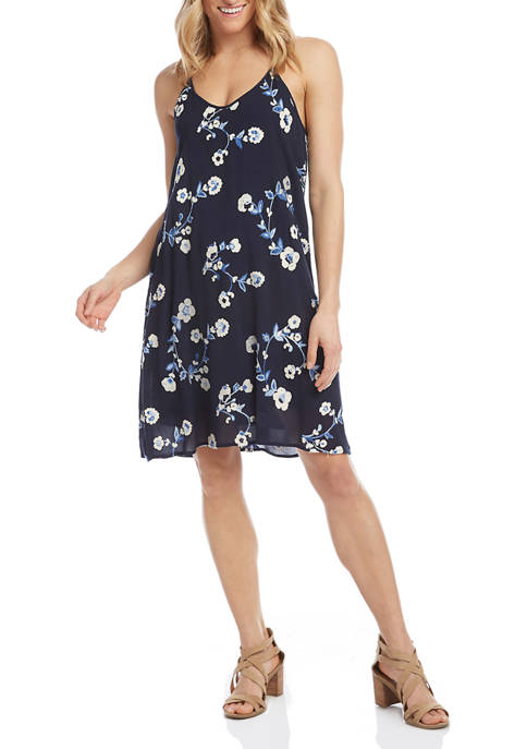 Womens Embroidered Racerback Dress
