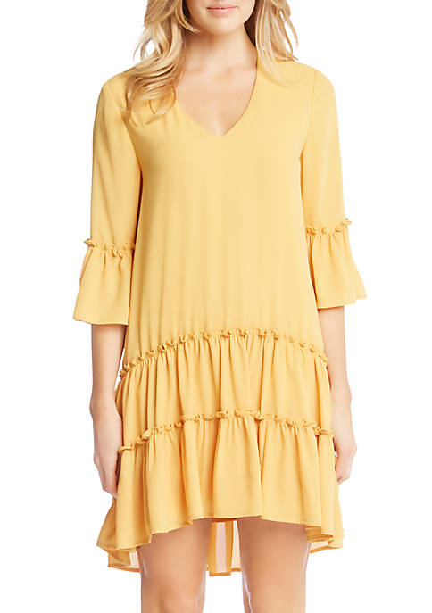 Karen Kane Tiered Ruffle Hem Dress