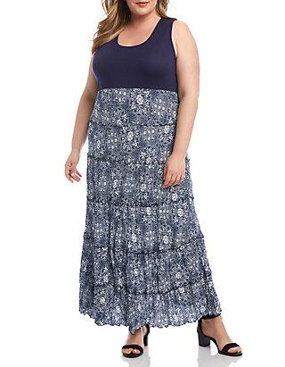 Karen Kane Plus Size Topanga Tiered Dress   belk