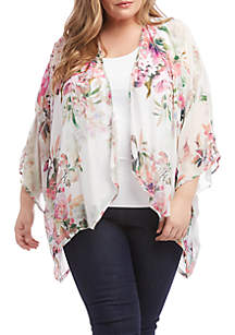c92cc285e6f2 ... Karen Kane Plus Size Drape Front Kimono