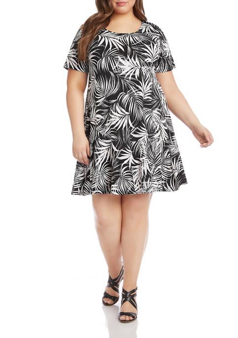 Karen Kane Plus Size Printed Dakota Dress