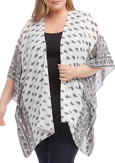 Karen Kane Plus Size Kimono Jacket