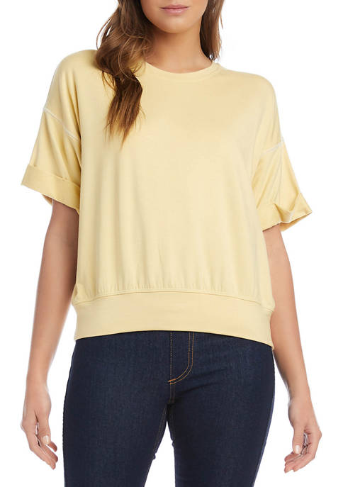 Womens Cuffed French Terry T-Shirt