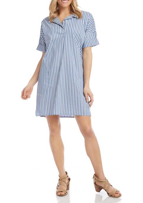 Womens Stripe Shirtdress