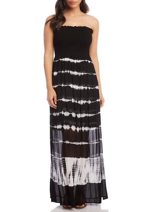Womens Smocked Maxi Dress