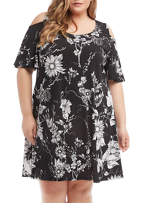Karen Kane Plus Size Cold Shoulder Dress