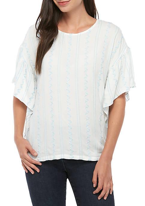 Karen Kane Cascade Ruffle Sleeve Top