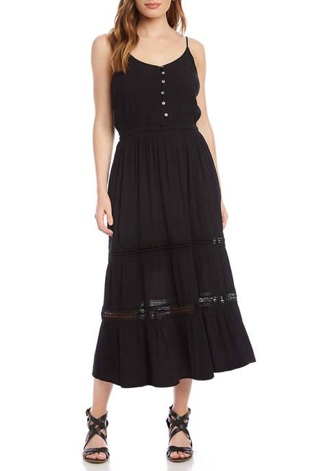 Karen Kane Womens Lace Inset Dress