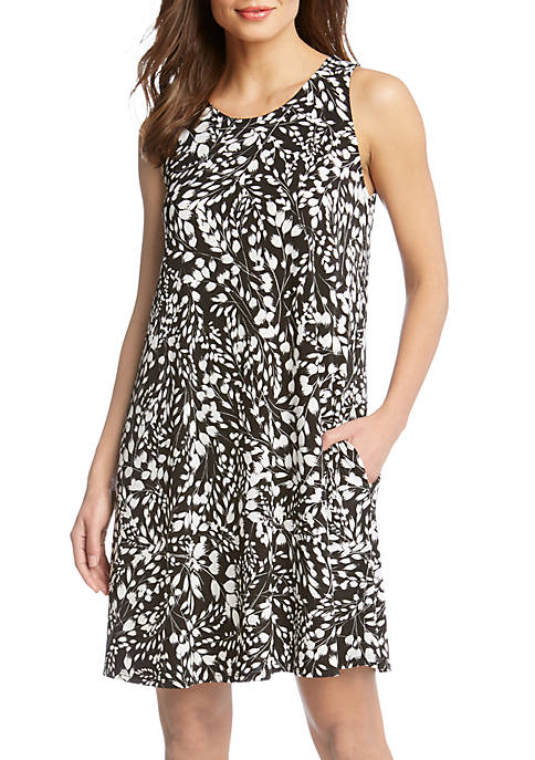 Karen Kane Abstract Print Chole Dress