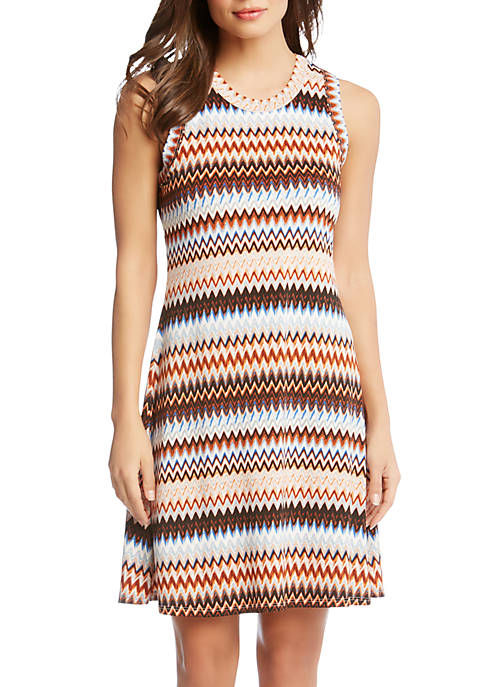 Karen Kane Zig Zag Halter Dress