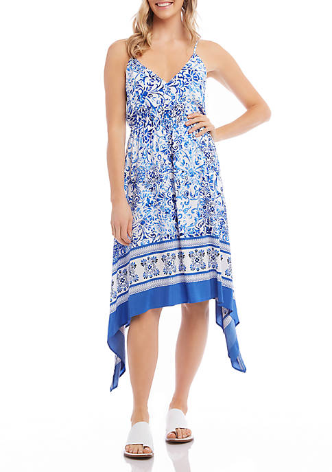 Karen Kane Border Print Cami Dress