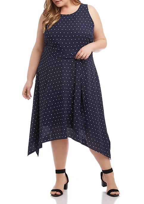 Plus Size Handkerchief Hem Dress