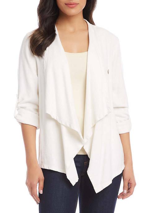 Womens Drape Front Jacket