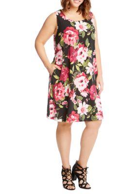 Karen Kane  Plus Size Floral Print Chloe Dress