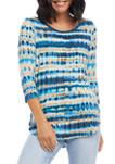 Womens 3/4 Sleeve Shirttail T-Shirt