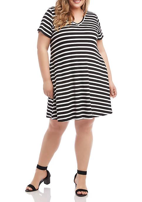 Plus Size Quinn V Neck Pocket Dress