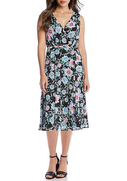 Karen Kane Faux Wrap Midi Dress