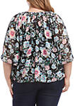 Plus Size Flare Sleeve Top