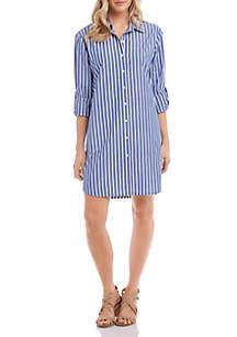 Karen Kane Striped Shirt Dress