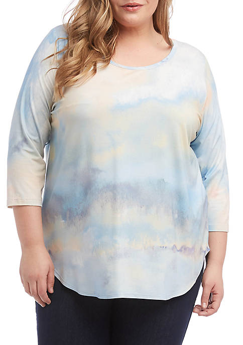 Karen Kane Plus Size Cloud Shirttail T Shirt