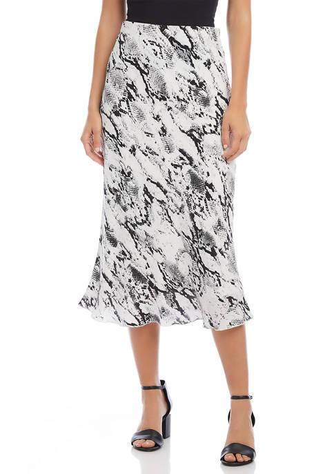 Karen Kane Womens Bias Cut Midi Skirt