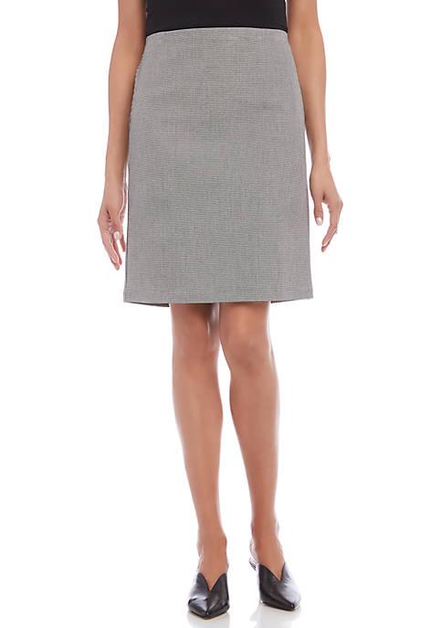 Karen Kane Houndstooth City Skirt