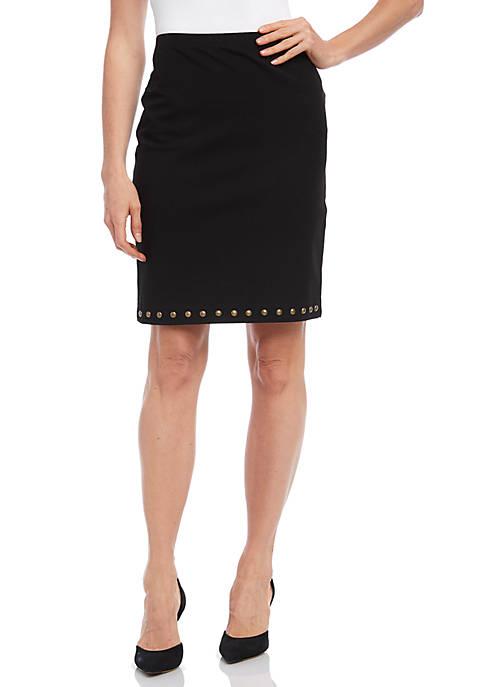 Karen Kane Womens Studded Skirt