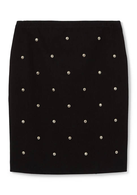 Karen Kane Womens Studded Skirt