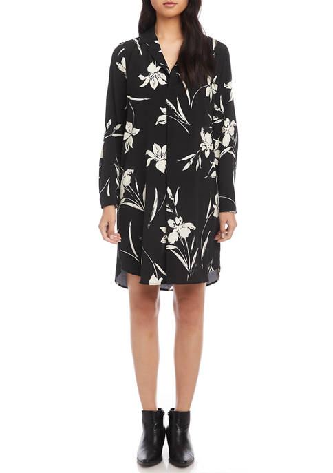 Karen Kane Womens Half Placket Shirt Dress