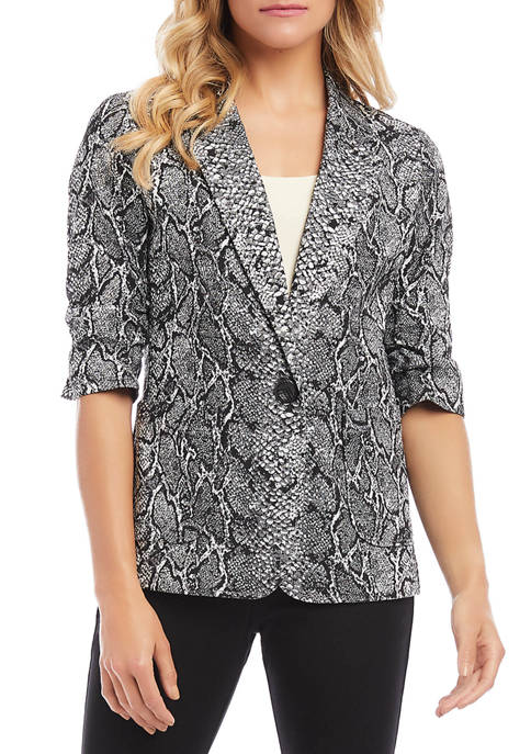 Womens Ruched Sleeve Jacket