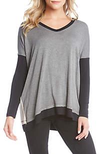 Long Sleeve Colorblock Top
