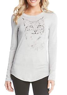 Lynx Print Top
