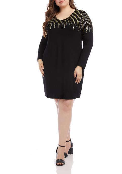 Karen Kane Plus Size Sequin Print Sheath Dress