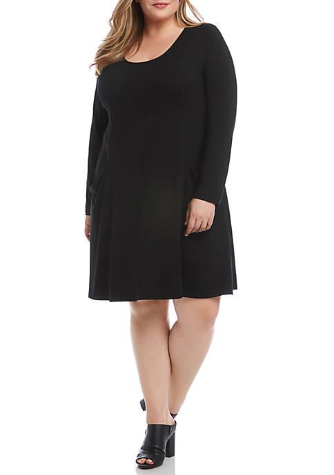 Karen Kane Plus Size Pocket Dress