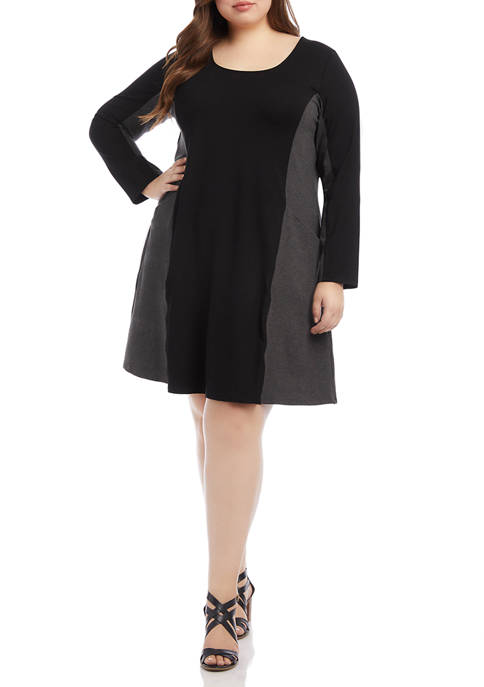 Karen Kane Plus Size Colorblock Dress