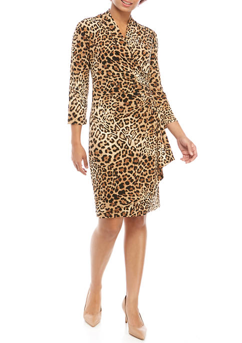 Karen Kane Womens Cascade Wrap Dress
