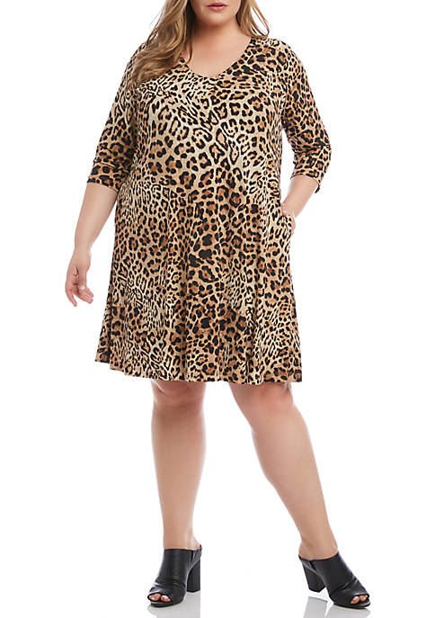 Karen Kane Plus Size V-Neck Pocket Dress