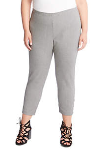 Plus Size Houndstooth Piper Pant